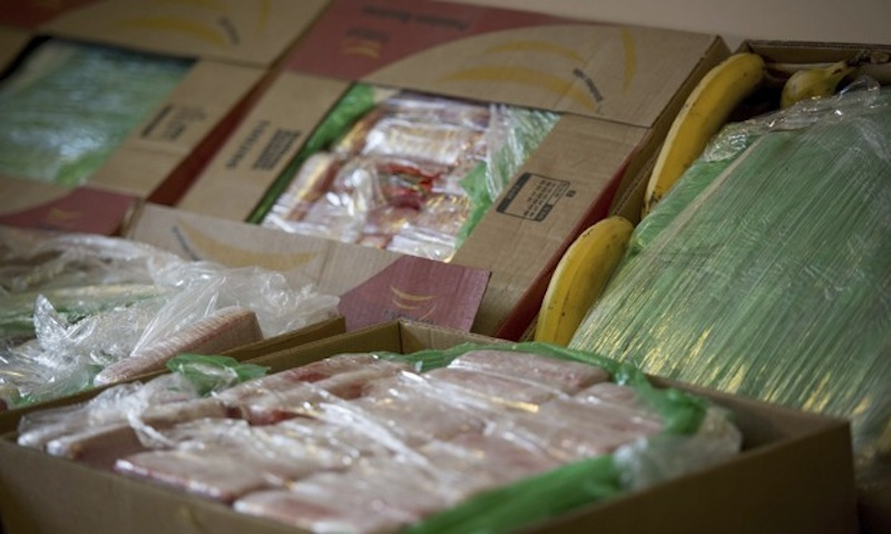 Cocaine in crates of bananas